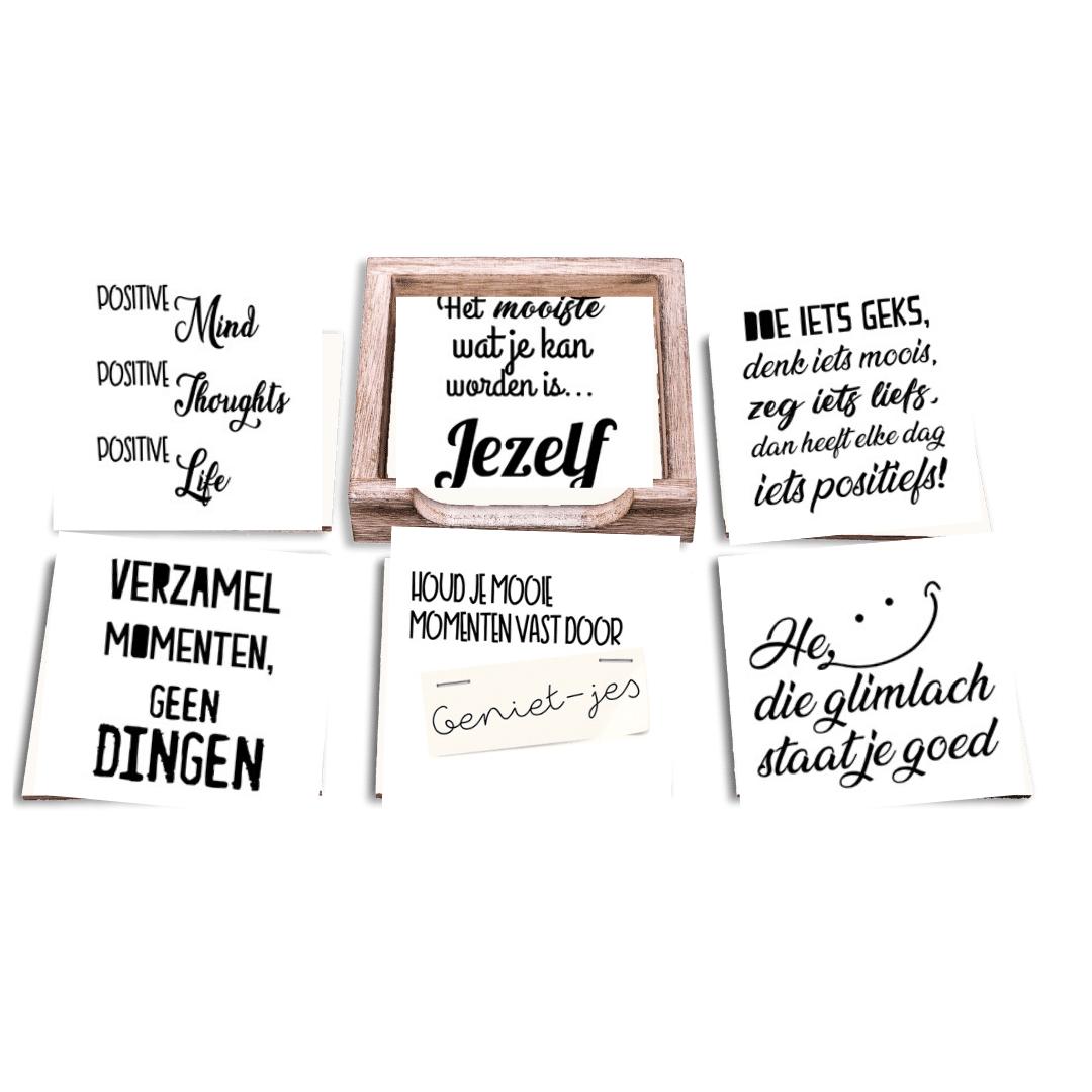 Onderzetter Set Positieve Spreuken