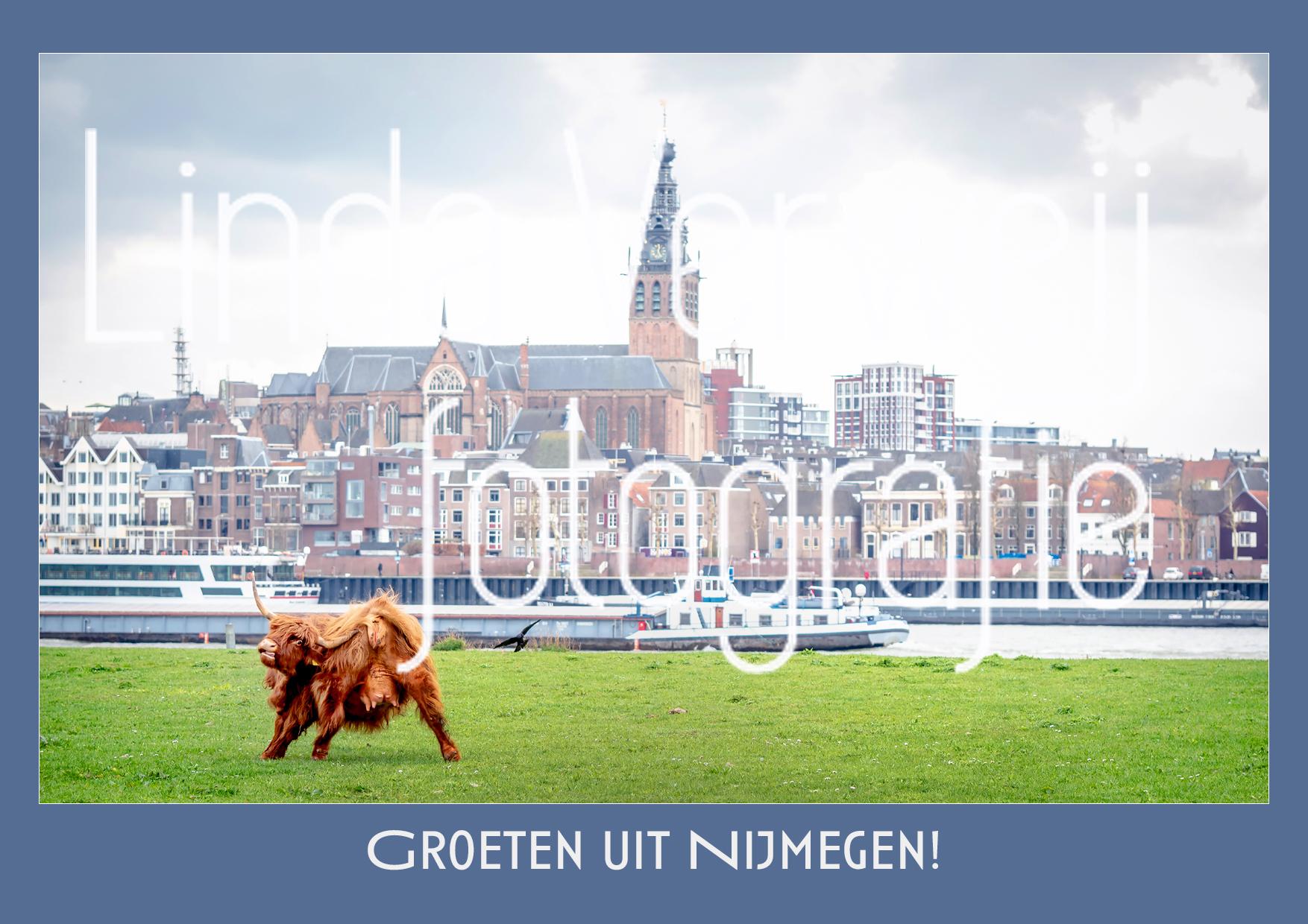 Ansichtkaart Foto Nijmegen Blauw
